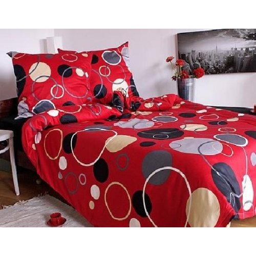 Saténové obliečky K3 - červené