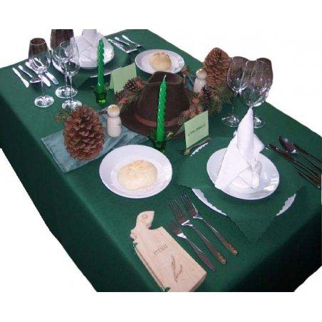 Obrus - lesnícka zelená