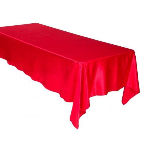 Saténový obrus červená