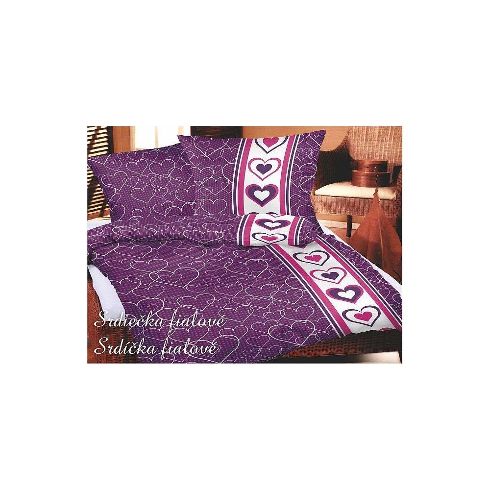 Srdiečká fialové 140 X 220 cm