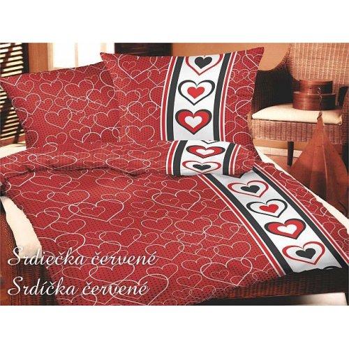 Srdiečká červené 140 X 220 cm