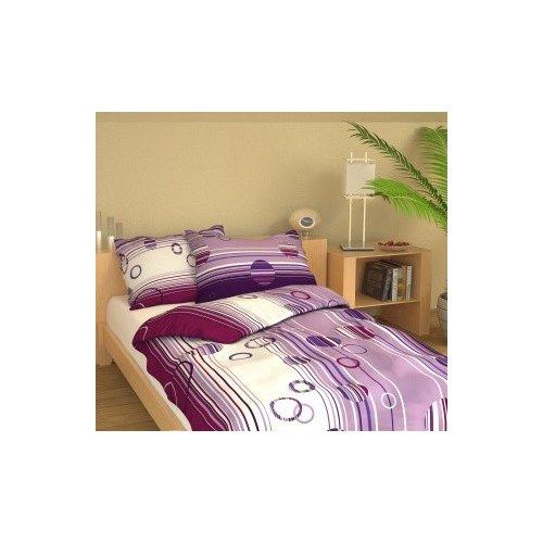 Obliečky Ria - fialové - 140 x 220 cm