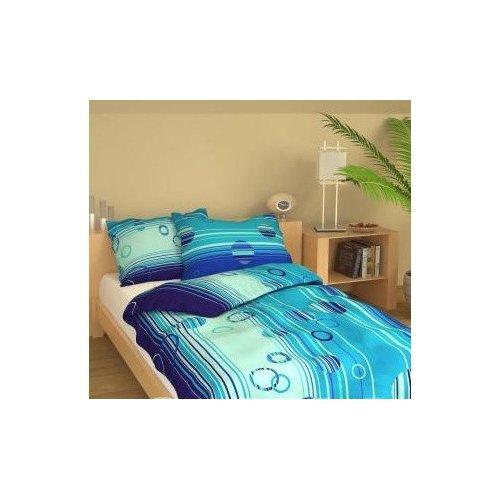 Obliečky Ria - modré - 140 x 220 cm
