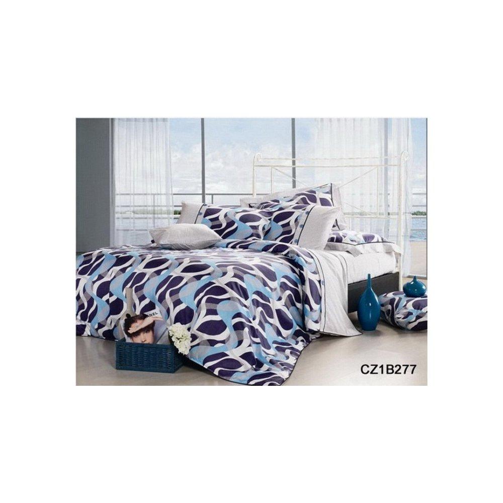Obliečky bavlnený polosatén 140 x 200 cm - Eritrea