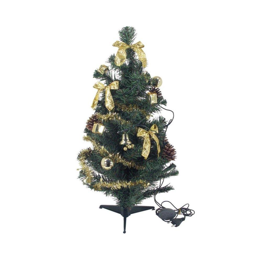 Zdobený stromček - Zlatý LED10