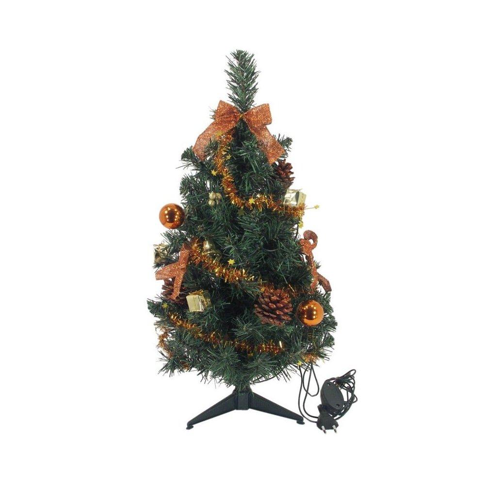 Zdobený stromček - hnedý LED10