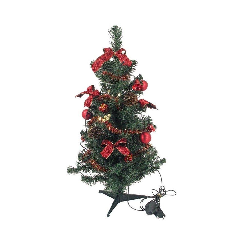 Zdobený stromček - Červený LED10