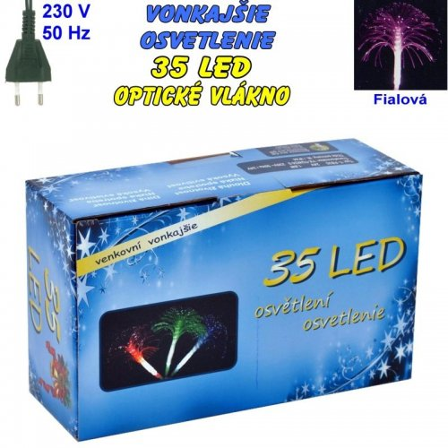 Vonkajšie osvetlenie - LED-35 optické vlákna- Fialová