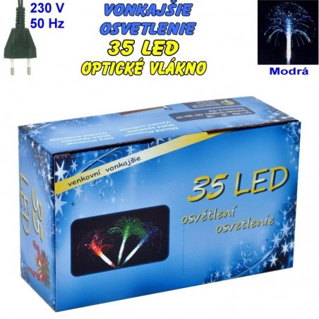 Vonkajšie osvetlenie - LED-35 optické vlákna - modrá