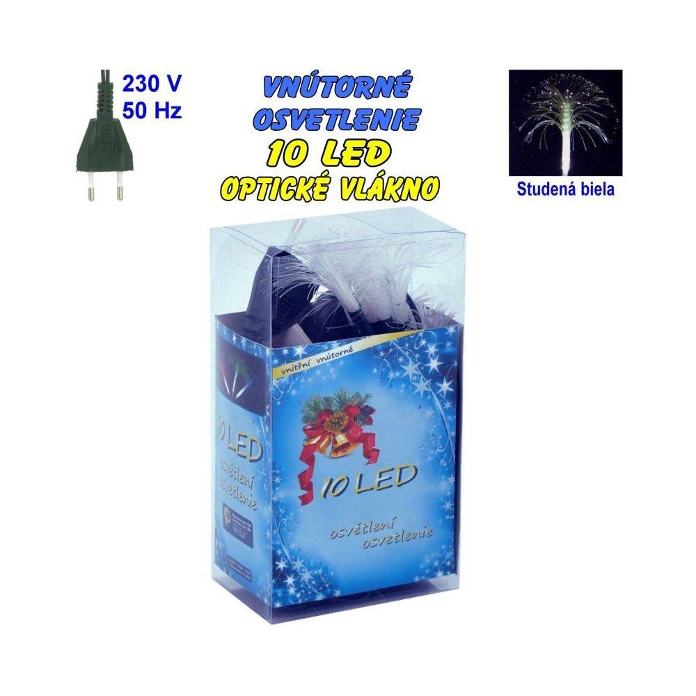 Vnútorné osvetlenie - LED-10 optické vlákna - Biela studená