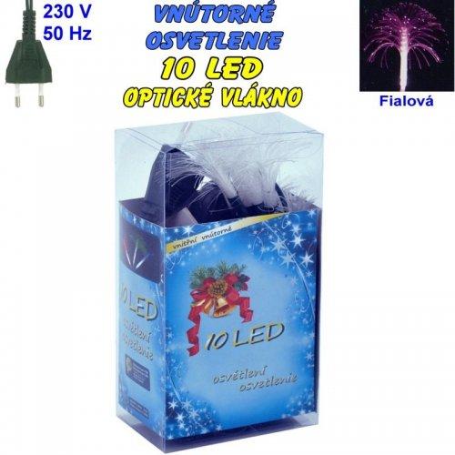 Vnútorné osvetlenie - LED-10 optické vlákna - Fialová