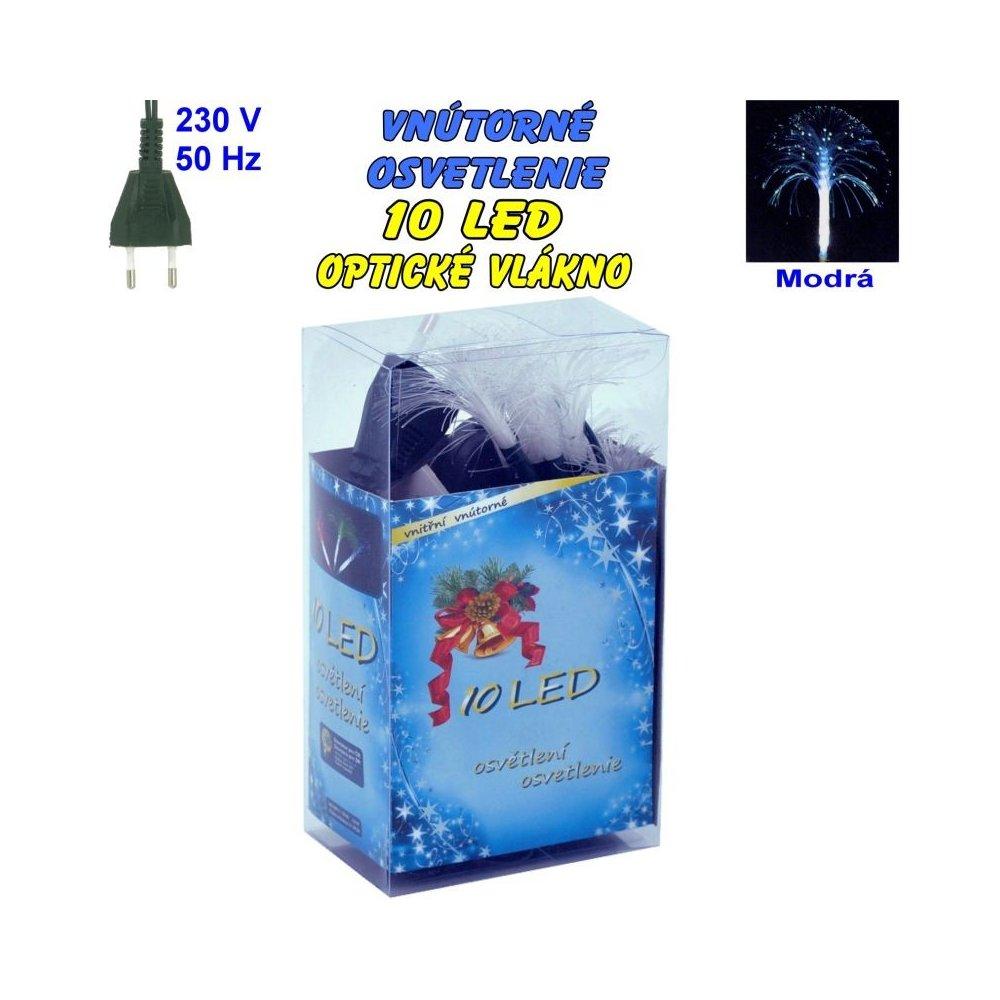 Vnútorné osvetlenie - LED-10 optické vlákna - Modrá