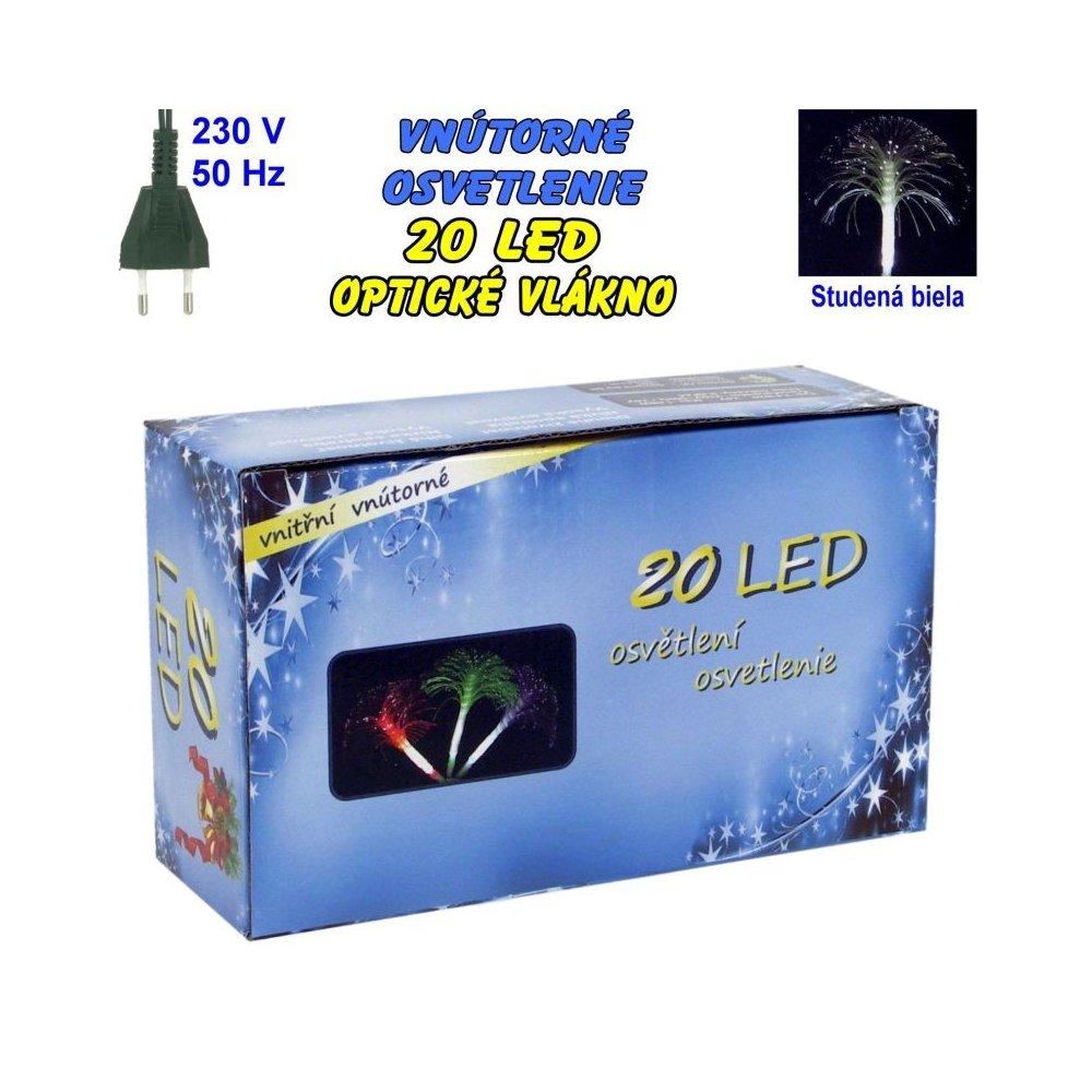 Vnútorné osvetlenie - LED-20 optické vlákna - Biela studená