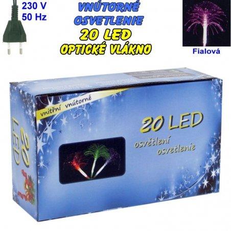 Vnútorné osvetlenie - LED-20 optické vlákna - Fialová