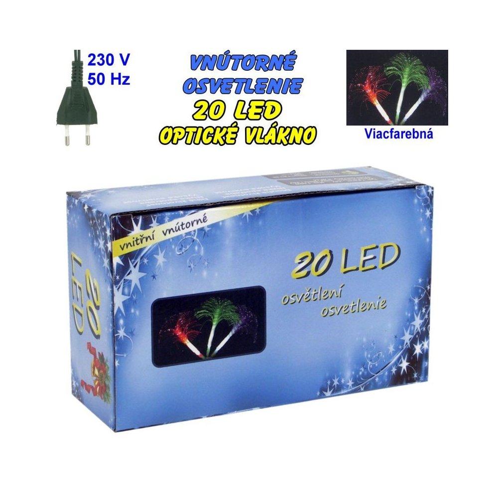 Vnútorné osvetlenie - LED-20 optické vlákna - Viacfarebná