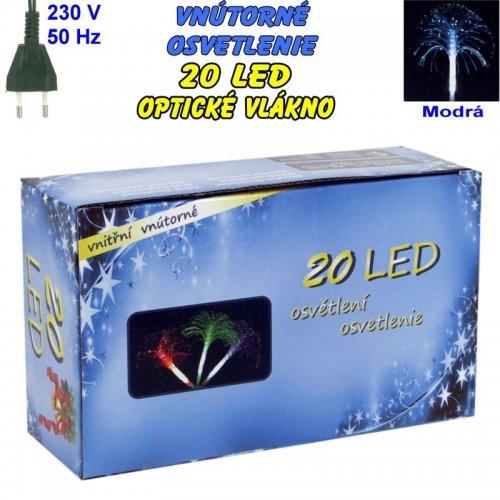 Vnútorné osvetlenie - LED-20 optické vlákna - Modrá
