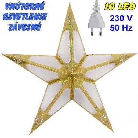 Vnútorné závesné osvetlenie - Hviezda - žltá
