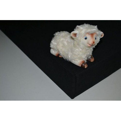 Plachta jersey - 045 čierna 180 x 200 cm