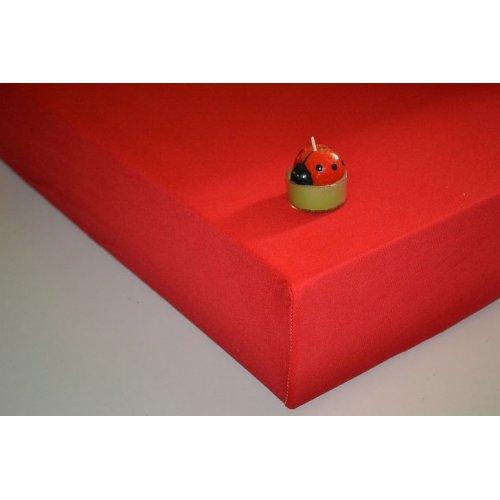 Plachta jersey - 030/1 červená