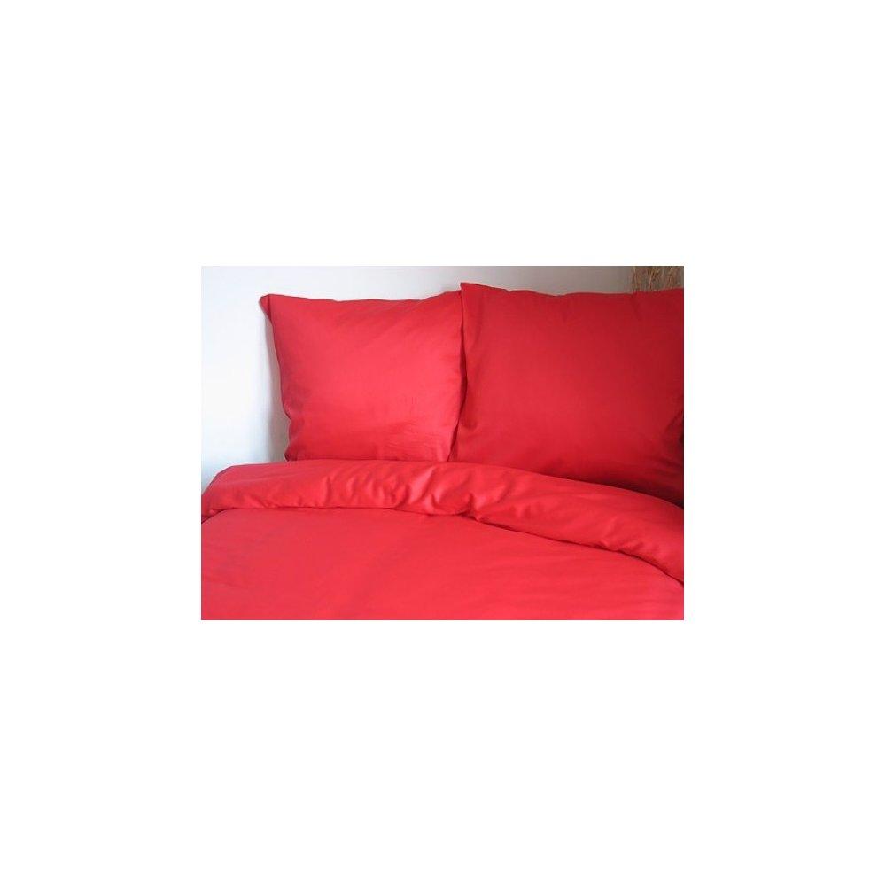 Návliečky jednofarebné 140 x 200 cm - červená