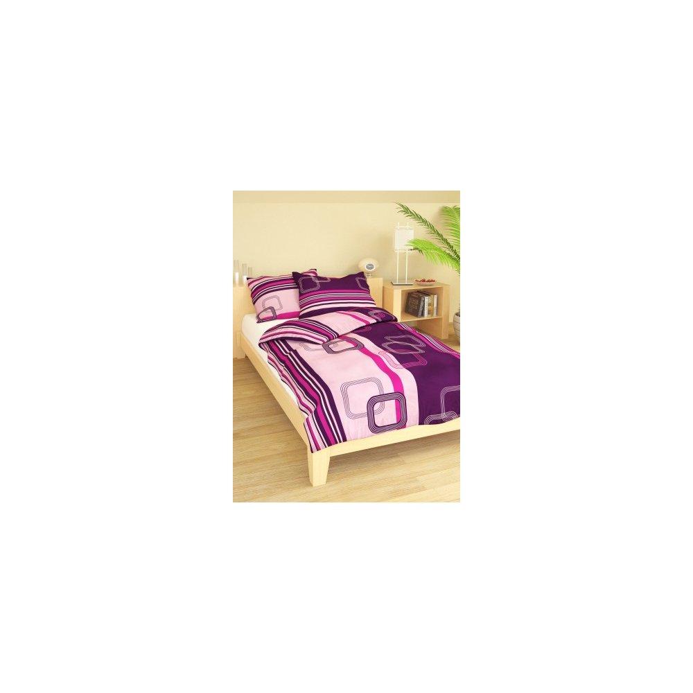 Obliečky Loren fialové 140 x 200 cm