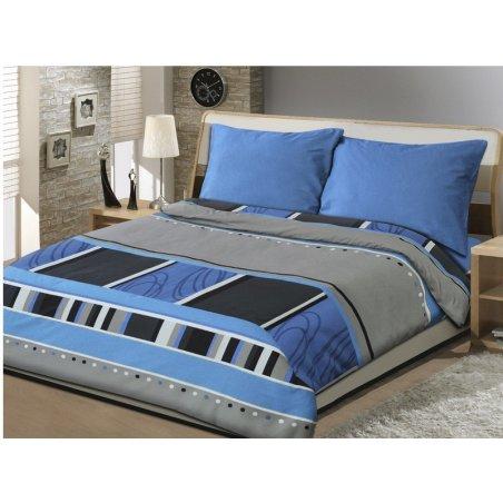Obliečky - Qaurd modrá 140 x 200 cm