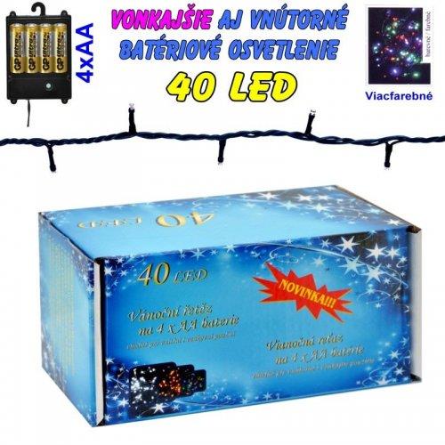 LED-40 žiaroviek na batérie