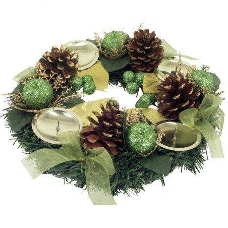 Vianočný veniec Lux zelený