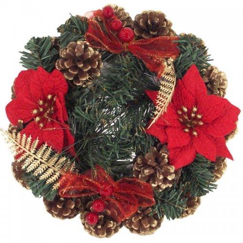 Venček vianočný - červený
