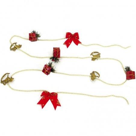 Vianočná girlanda červená