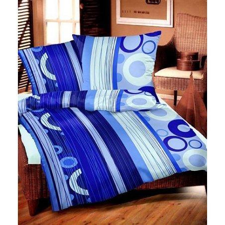 Návliečky - Srdečná modrá 140 x 220 cm