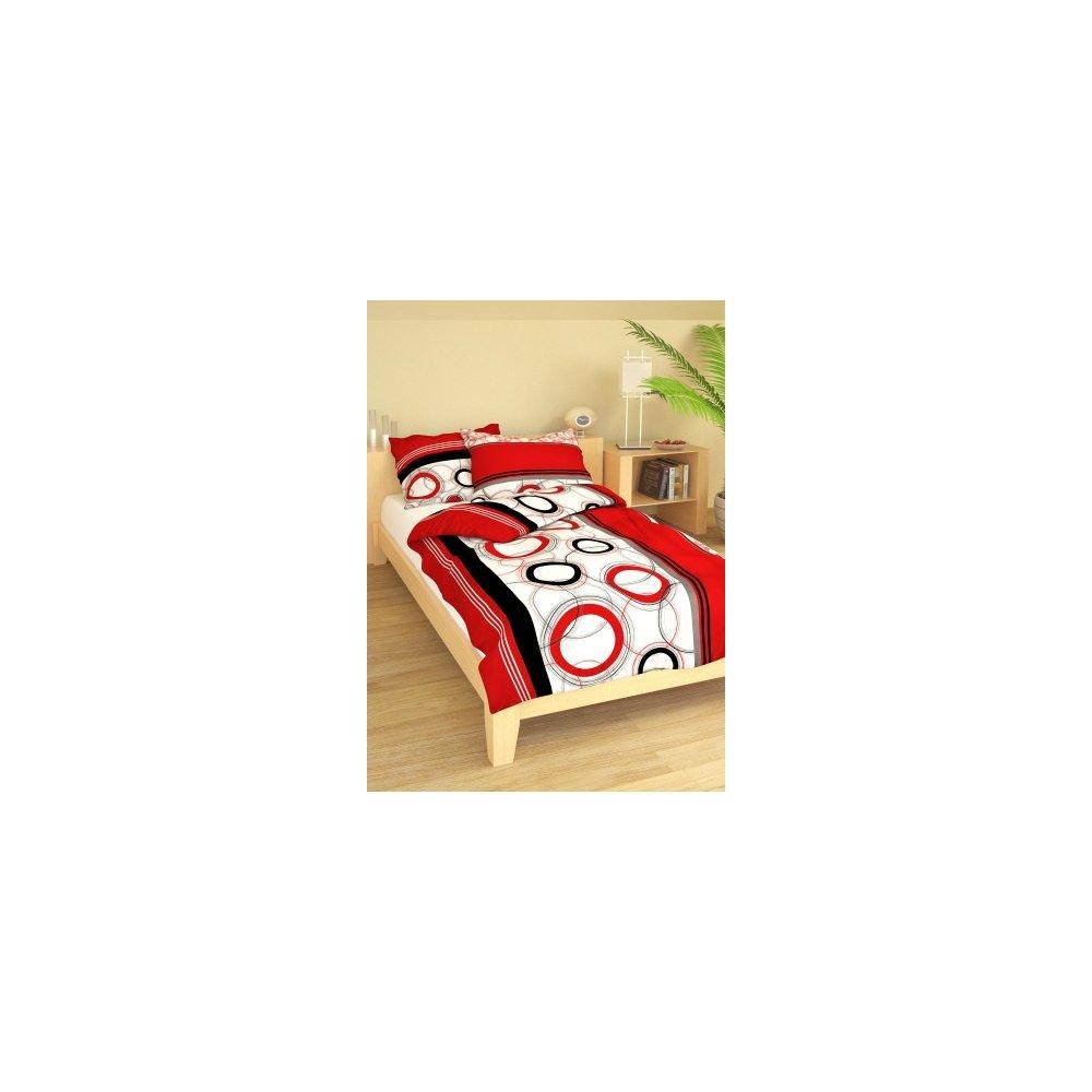 Posteľné návliečky 140 x 200 cm - Kamini červená