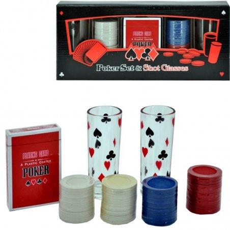 Poker set + poháriky