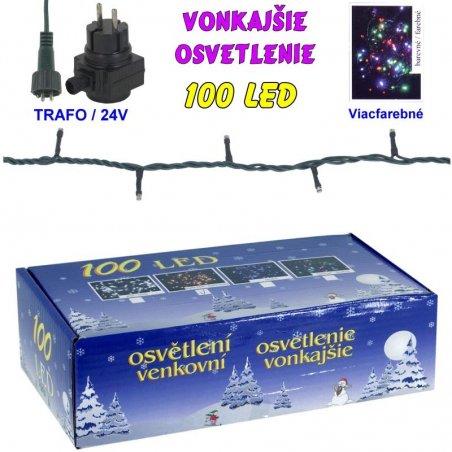 LED-100žiaroviek - 24V/trafo - Farebná
