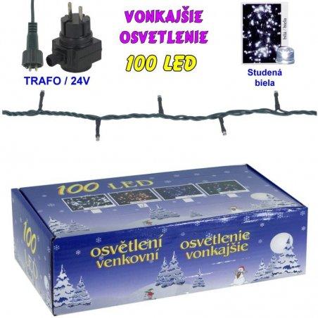 LED-100žiaroviek - 24V/trafo - Biela studená