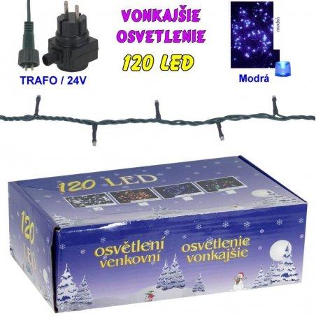 LED-120žiaroviek - 24V/trafo - Modrá