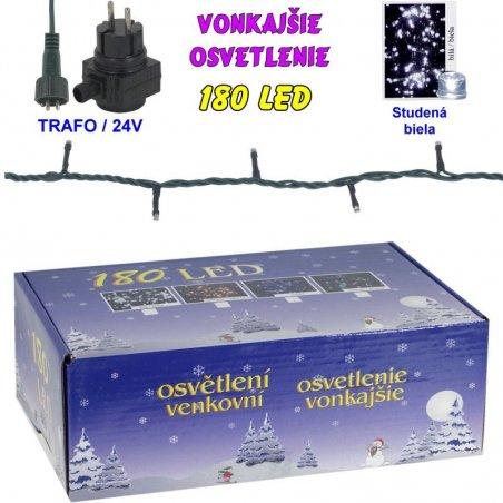 LED-180žiaroviek - 24V/trafo - Biela studená