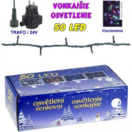 LED-50žiaroviek - 24V/trafo - Biela studená
