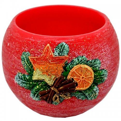 Lampión na čajovú sviečku - Červený