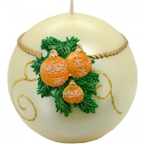 Sviečka guľa vianočná - Zlatá