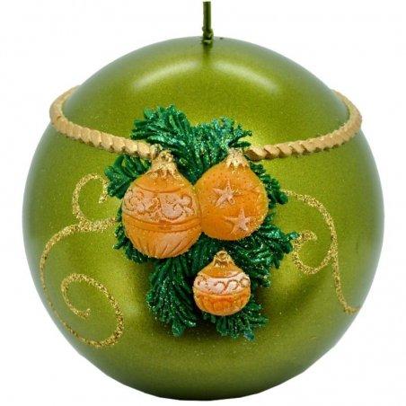Sviečka guľa vianočná - Perla
