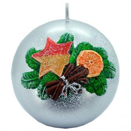 Vianočná sviečka guľa  - Zlatá