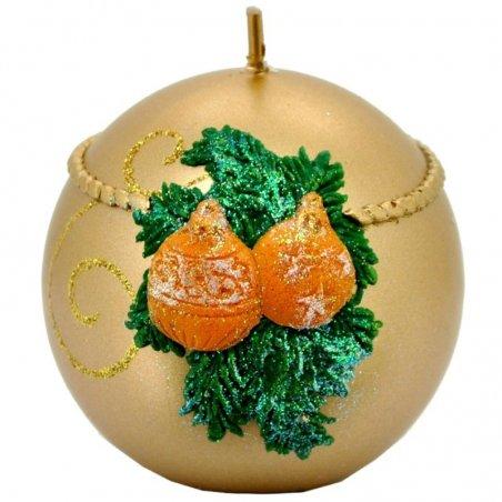 Vianočná sviečka guľa l  - Perla metal