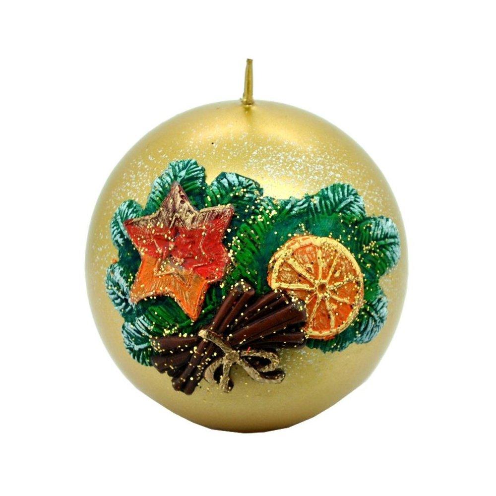 Vianočná sviečka guľa ll  - Strieborná