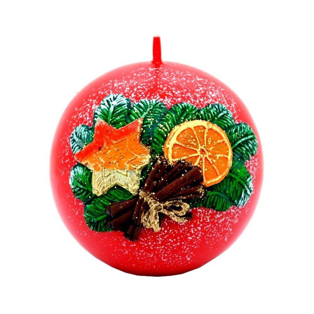 Vianočná sviečka guľa ll  - Zlatá