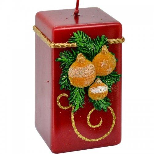 Sviečka kváder vianočná - Perla