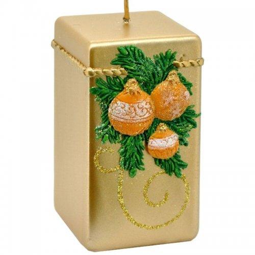 Sviečka kváder vianočná - Zelená