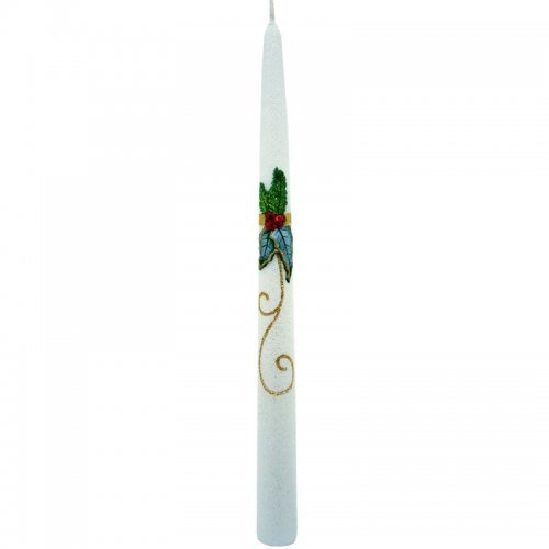 Sviečka špic vianočná - Biela