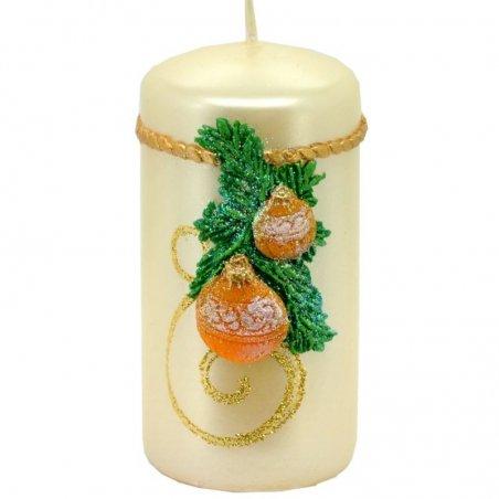 Sviečka valec vianočná - Perla