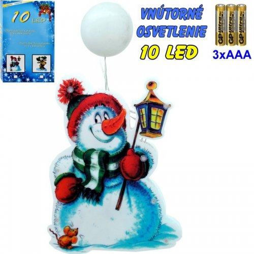LED-10ž na batérie - snehuliak
